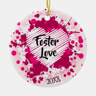 Foster Love - Foster Care Adoption Gifts Christmas Ornament