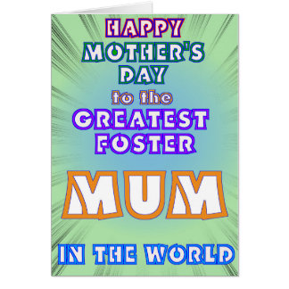 Foster Mum Mother's Day Card
