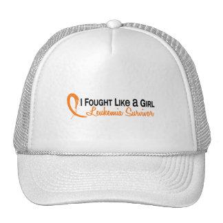 Fought Like A Girl Leukemia 6S Mesh Hats