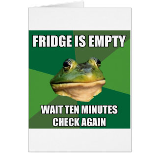Foul Bachel Frog Empty Fridge Card