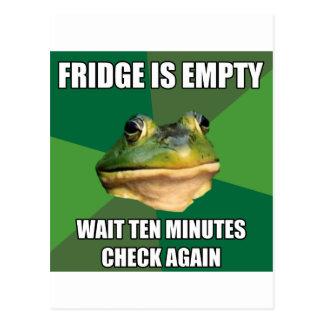 Foul Bachel Frog Empty Fridge Postcard