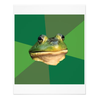 Foul Bachelor Frog Advice Animal Meme 11.5 Cm X 14 Cm Flyer