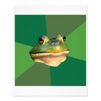 Foul Bachelor Frog Advice Animal Meme Flyer Design
