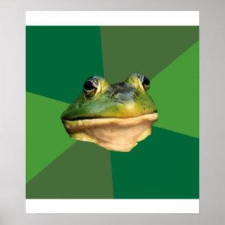 Foul Bachelor Frog Advice Animal Meme Poster