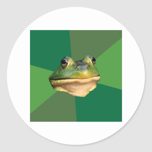 Foul Bachelor Frog Advice Animal Meme Round Stickers