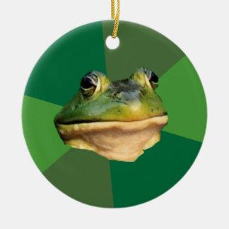 Foul Bachelor Frog Christmas Ornament