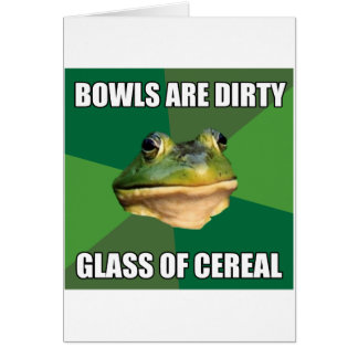Foul Bachelor Frog Glass of Cereal Card