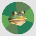 Foul Bachelor Frog Round Sticker