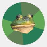 Foul Bachelor Frog Round Sticker