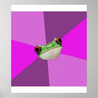 Foul Bachelorette Frog Advice Animal Meme Posters
