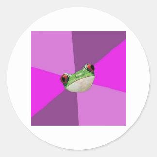 Foul Bachelorette Frog Advice Animal Meme Round Sticker