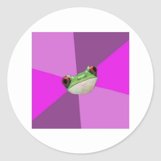 Foul Bachelorette Frog Advice Animal Meme Round Stickers