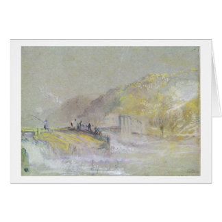 Foul by God: River Landscape with Anglers Fishing Greeting Card