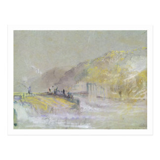 Foul by God: River Landscape with Anglers Fishing Postcard