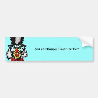Foul Evil Clown Car Bumper Sticker