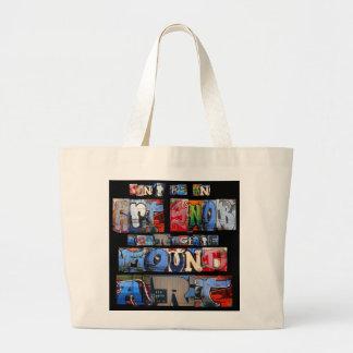 Found Art Graffiti Totebag Jumbo Tote Bag