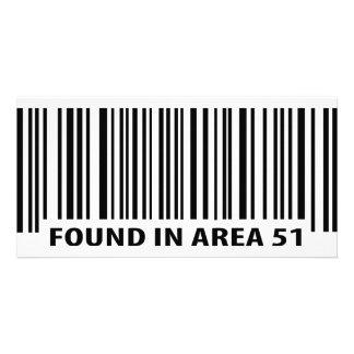 found in area 51 icon photo card template