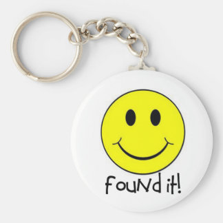Found It! Basic Round Button Key Ring
