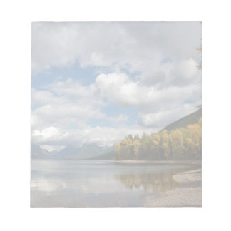found lake in glacier national park notepad