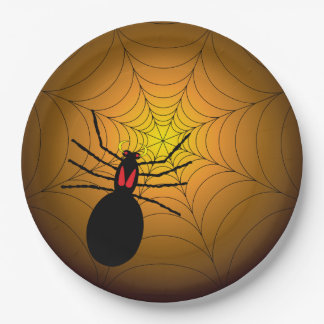 Found Me A Spider Halloween Party Paper Plates