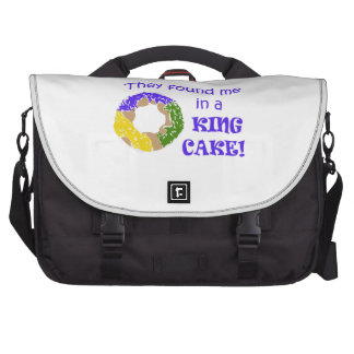 FOUND ME IN A KING CAKE LAPTOP COMMUTER BAG