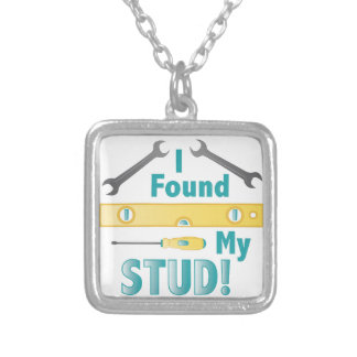 Found My Stud Square Pendant Necklace