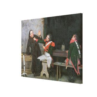 Found Out (oil on canvas) (one of pair - See 19572 Canvas Print