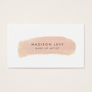Foundation Swatch Make Up Artist Business Cards