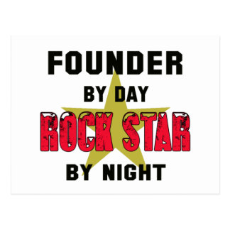 Founder by Day rockstar by night Postcard