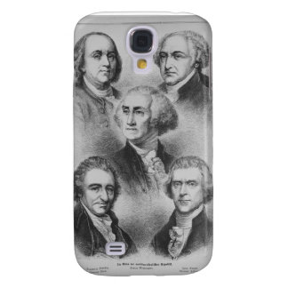 Founding Fathers black and white Portraits Galaxy S4 Case