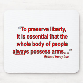 Founding Fathers on Gun RIghts Mousepads