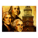 Founding Fathers Postcard
