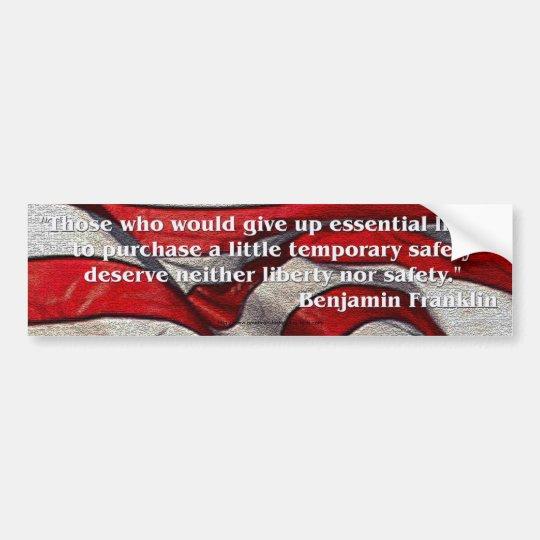 Founding Fathers Quote - Benjamin Franklin Bumper Sticker