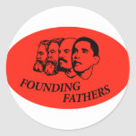 Founding Fathers Round Stickers