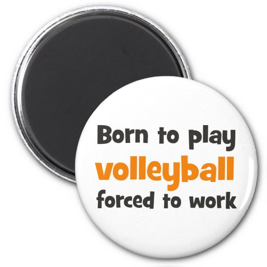 fount ton play volleyball forced tons work 6 cm round magnet