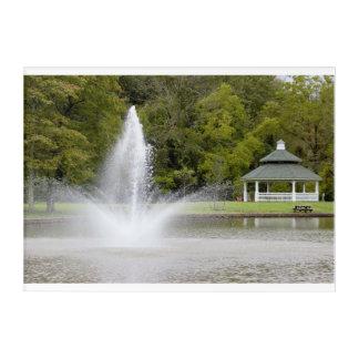 Fountain and Gazebo Acrylic Print