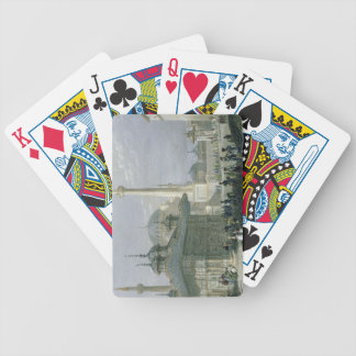 Fountain and Square of St. Sophia, Istanbul, engra Bicycle Playing Cards