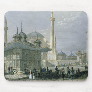 Fountain and Square of St. Sophia, Istanbul, engra Mouse Mat