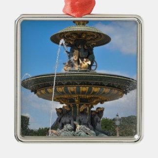 Fountain at Place de Concorde in Paris, France Christmas Ornament