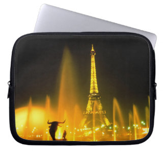 Fountain at the world famous Eiffel Tower Paris Laptop Sleeve