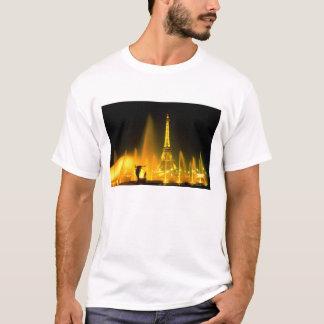 Fountain at the world famous Eiffel Tower Paris T-Shirt