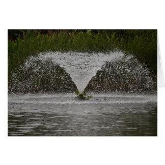 Fountain - blank greeting card