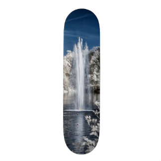 Fountain in Infrared Skate Deck