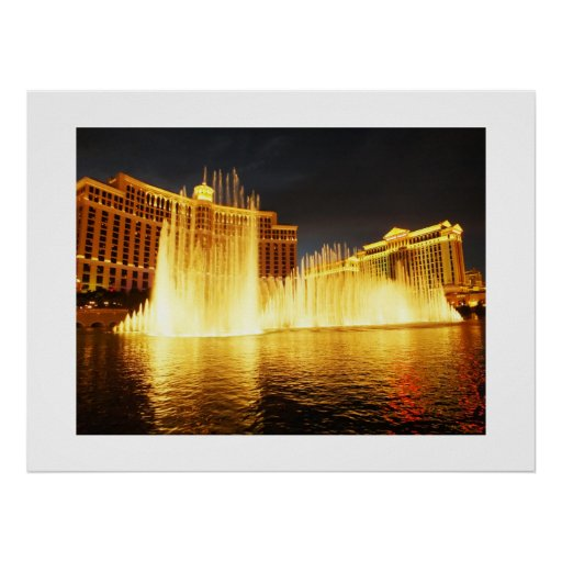 Fountain in Las Vegas Poster