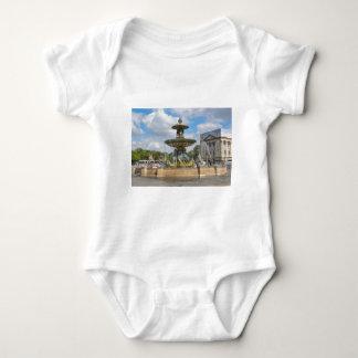 Fountain in Place de Concorde in Paris, France Baby Bodysuit