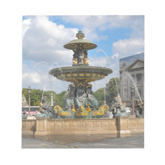 Fountain in Place de Concorde in Paris, France Notepad