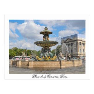 Fountain in Place de Concorde in Paris, France Postcard