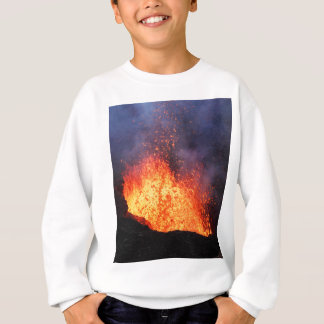 Fountain of hot lava erupts from crater volcano sweatshirt