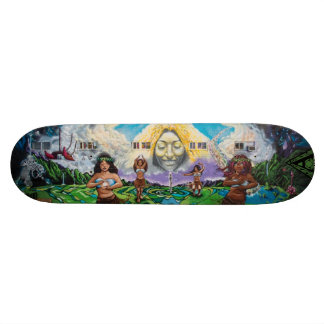 Fountain of Pele - Street Art Skateboard Deck