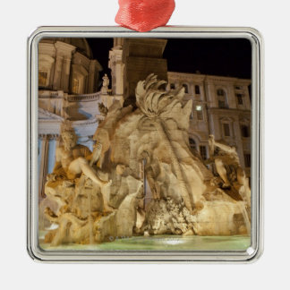 Fountain of the 4 Rivers, Piazza Navona, Rome Christmas Ornament